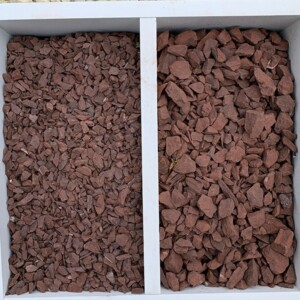 "3/8"" Crushed Red Stone & 3/4"" Crushed Red Stone"