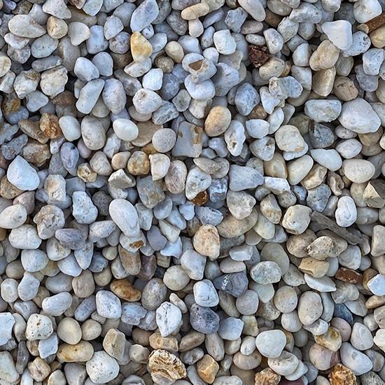 Five Eighths Inch White Stone
